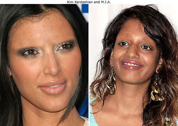 Kim Kardashian With No Eyebrows
