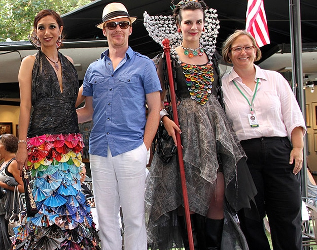 Gorgeous Dress Made From Old Magazines & Garbage Bags
