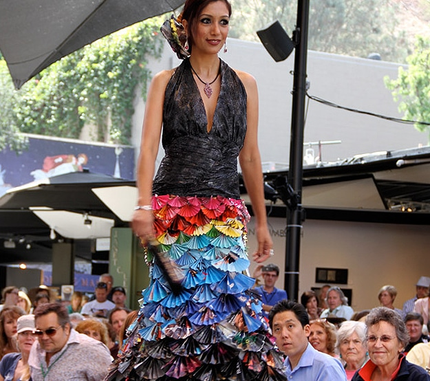 Colorful Dress Made From Magazines