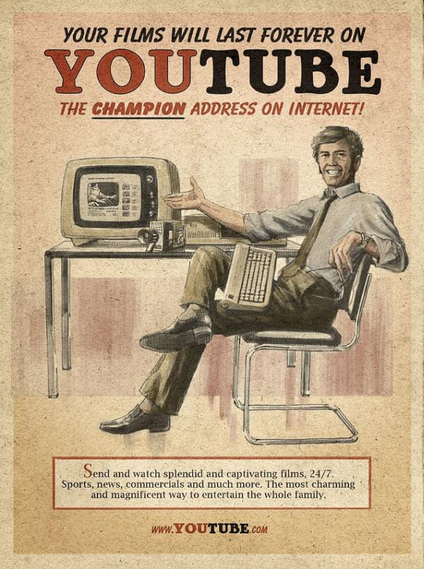 8 Retro Imaginary Advertisements For Modern Gadgets
