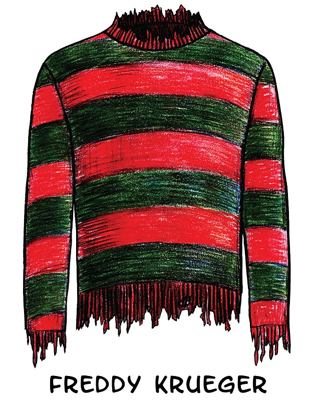 Illustrations Of Well Known Sweaters