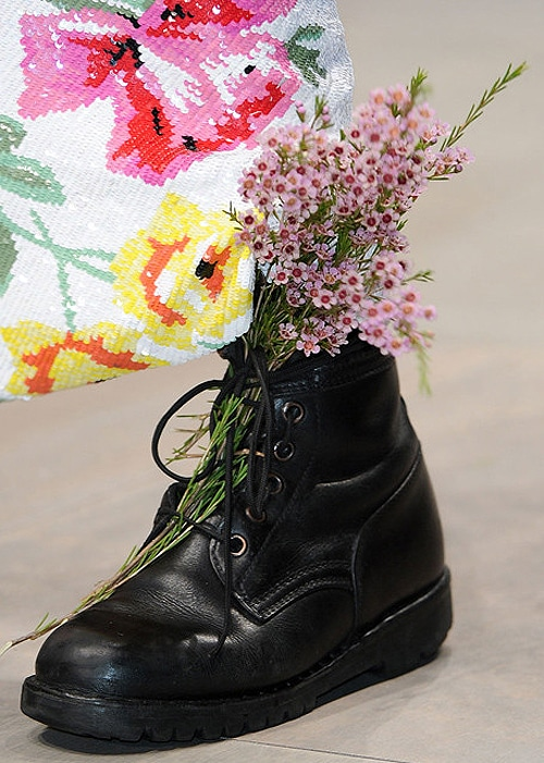 Creative Inspiration: Wear Wild Flowers In Combat Boots