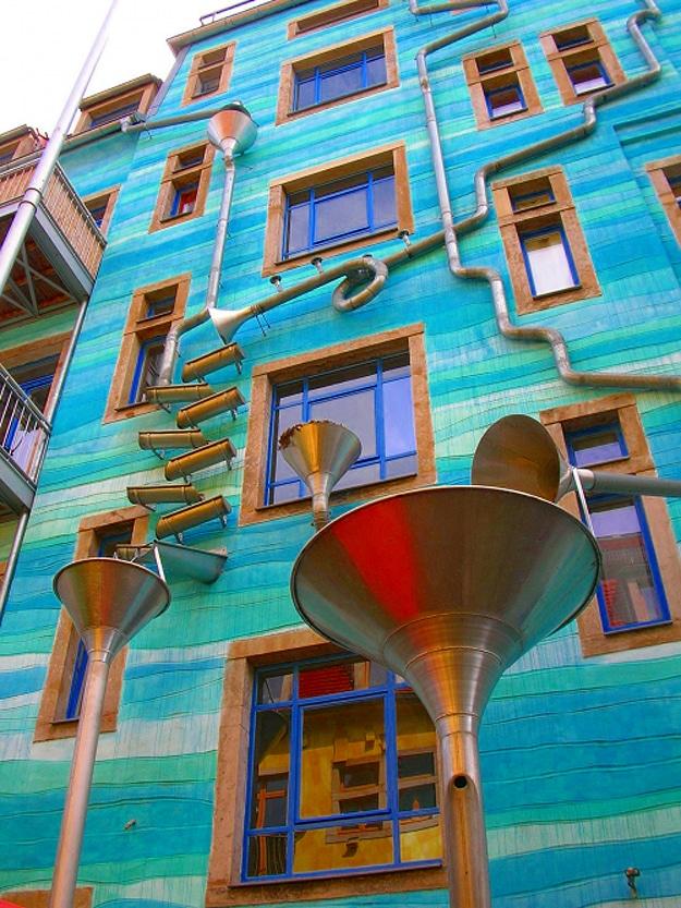 Germany Rain Spout Gutter Music