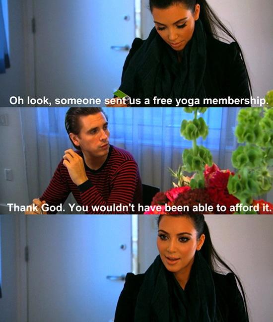 Kim Kardashian Free Yoga