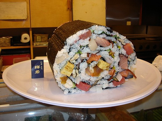 World's Largest Piece Of Sushi On A Restaurant Menu