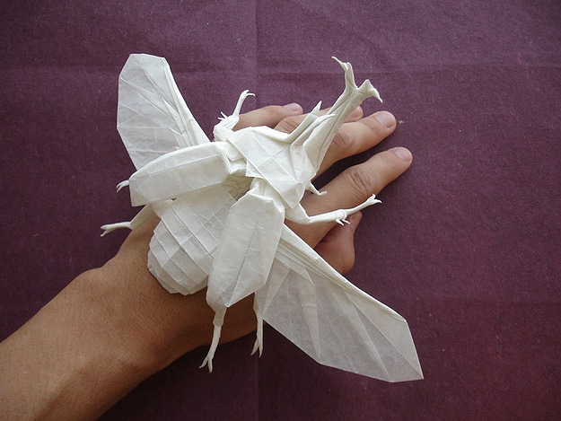 Origami: A Big Badass Bug Made From Paper