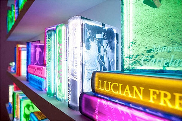 Art Installation From Colorful Books