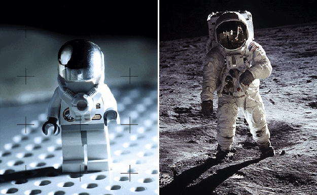 Man On Moon In Lego