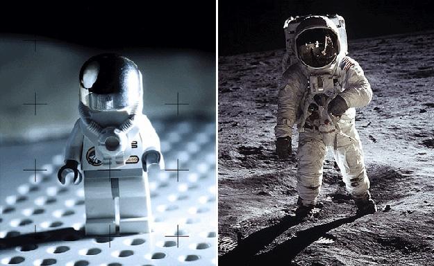 Man On Moon In Lego