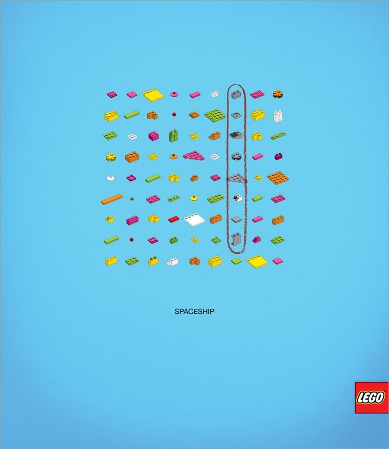 Lego Words Puzzle: A More Challenging Advertising Idea