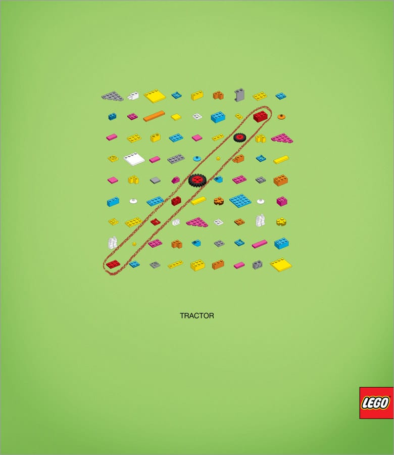 Lego Words Puzzle Game Advertisement
