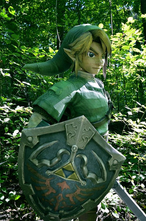 Papercraft Lifesize Origami Link Zelda