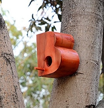 Living Typography: Simple Birdhouses Designed For Sparrows
