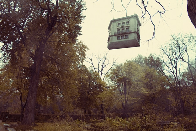 Levitating House Disturbing Photographs