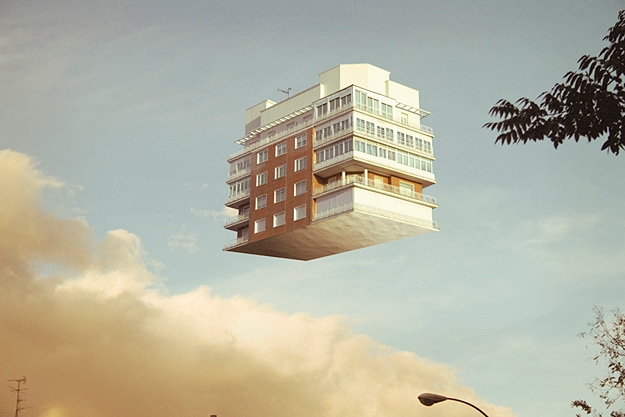 Floating Houses Disturbing Photographs