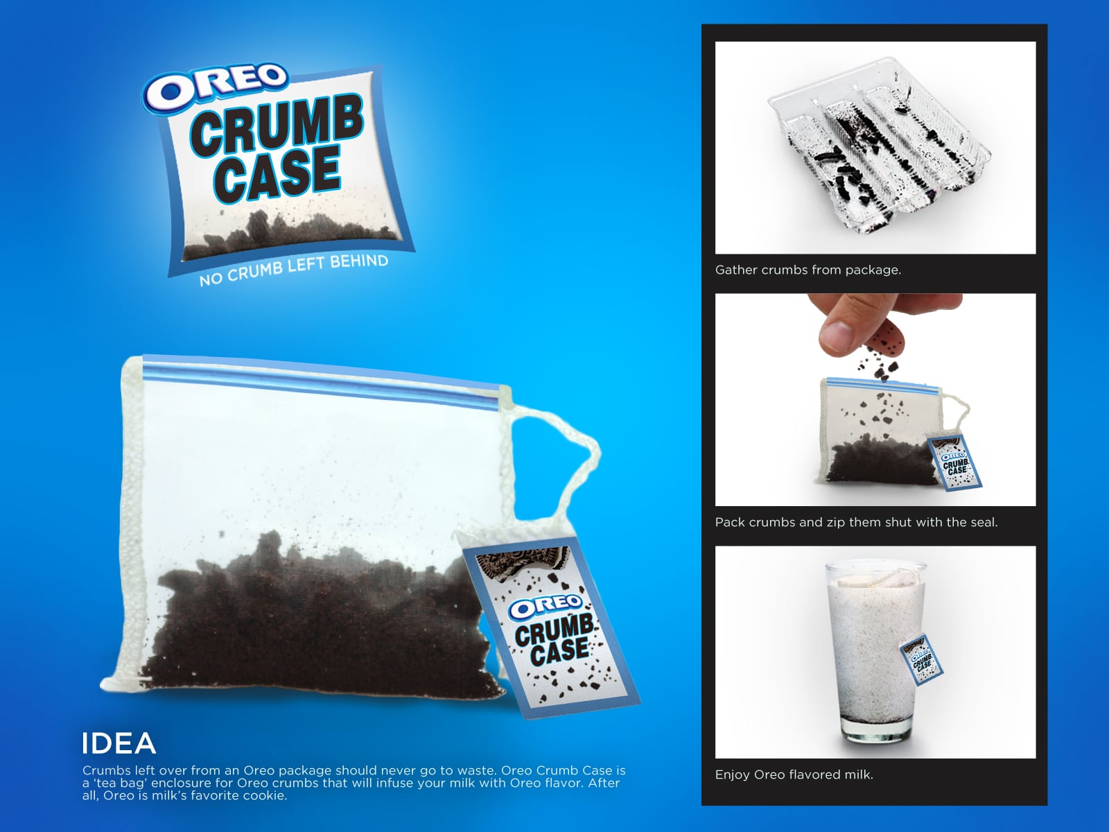 Oreo Crumb Case: Addiction Storage Pouch