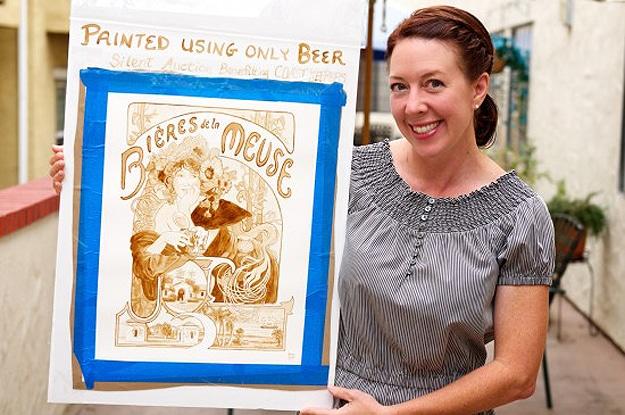Beer Painter Karen Eland