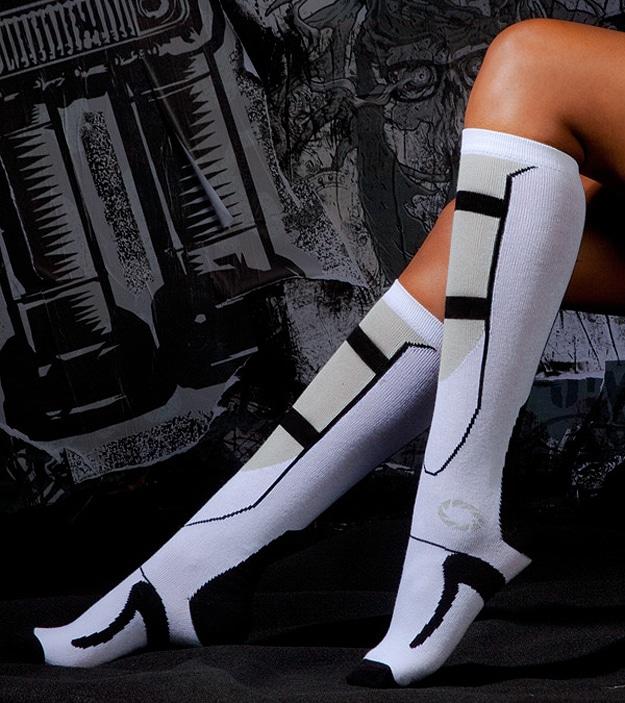 Video Game Geek Girl Socks