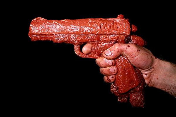 Bloody Raw Beef Guns