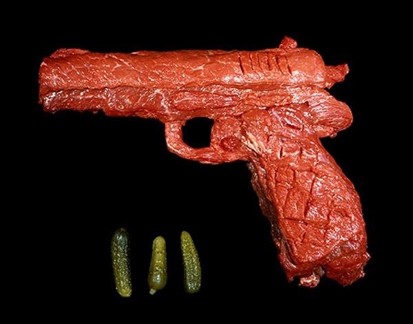 Bloody Beef Guns Art