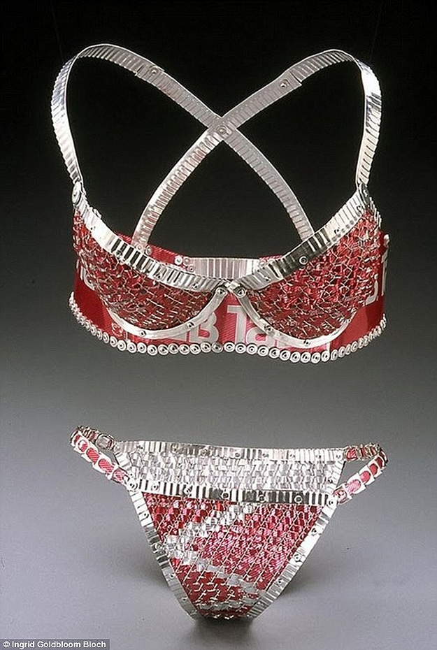 Bras Panties Made With Cans