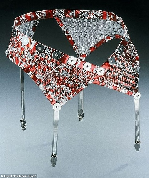 Bras Panties Made From Cans