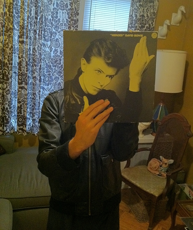 David Bowie Record Cover Faces