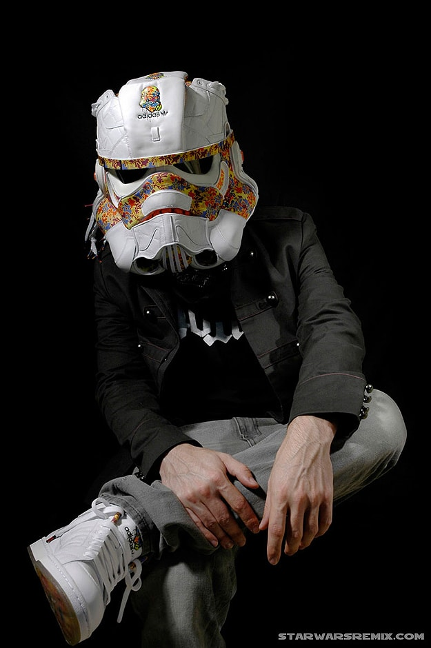 A Stunning Stormtrooper Helmet Created From Adidas Sneakers