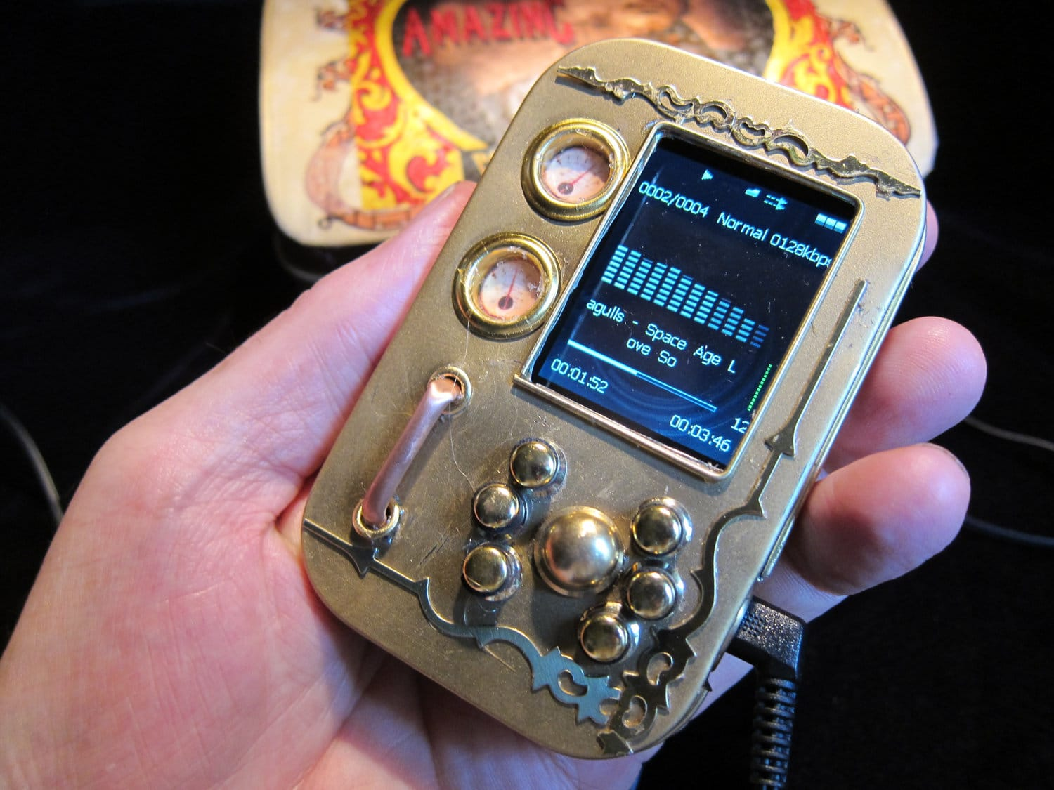 Steampunk Mp3 Player Customization Design
