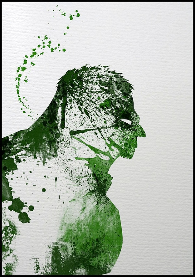 Hulk Illustration Made With Paint