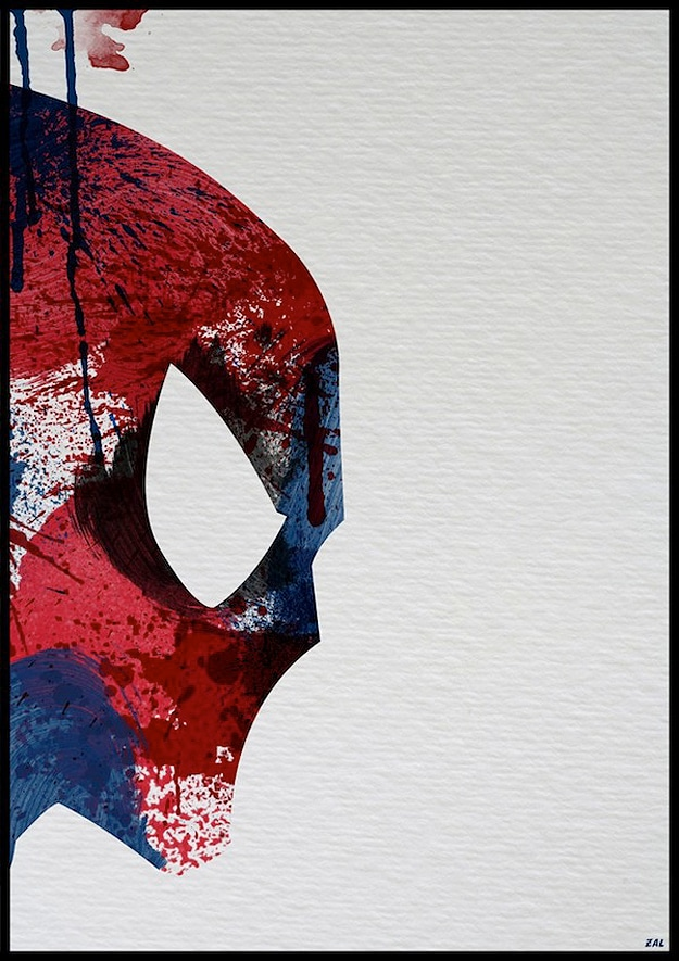 Spiderman Made From Paint