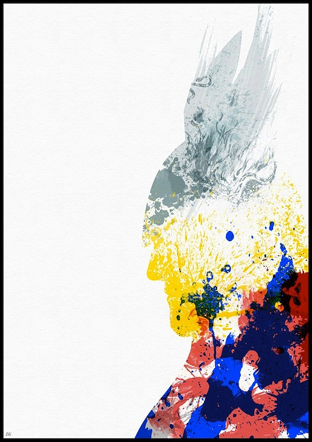 Thor Made With Paint Splashes