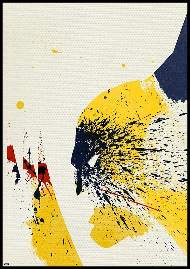 Wolverine Made From Paint