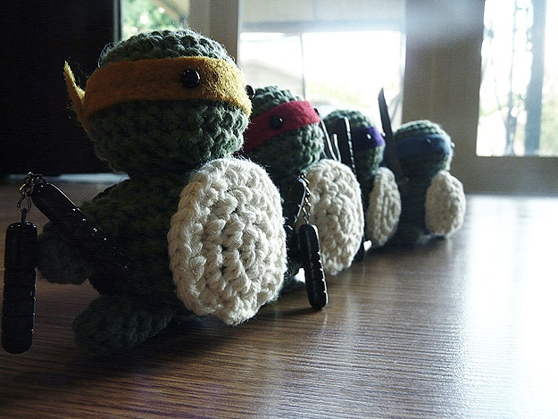 Croceted Little Turtle Figures
