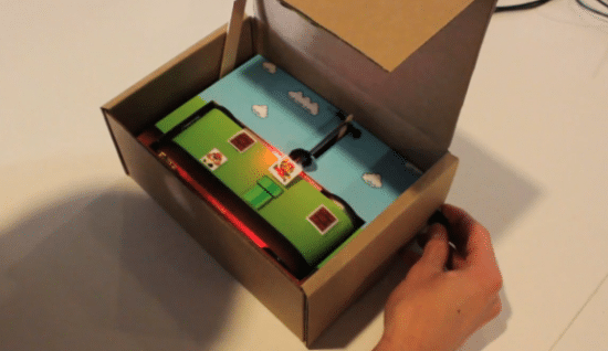 First Analog Video Game In A Cardboard Box