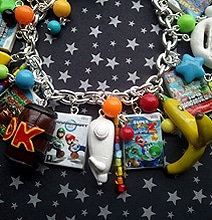 Super Mario Fans: Geeky Wii Video Game Charm Bracelet