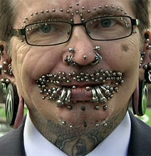 New World Record: The Man With The Most Piercings