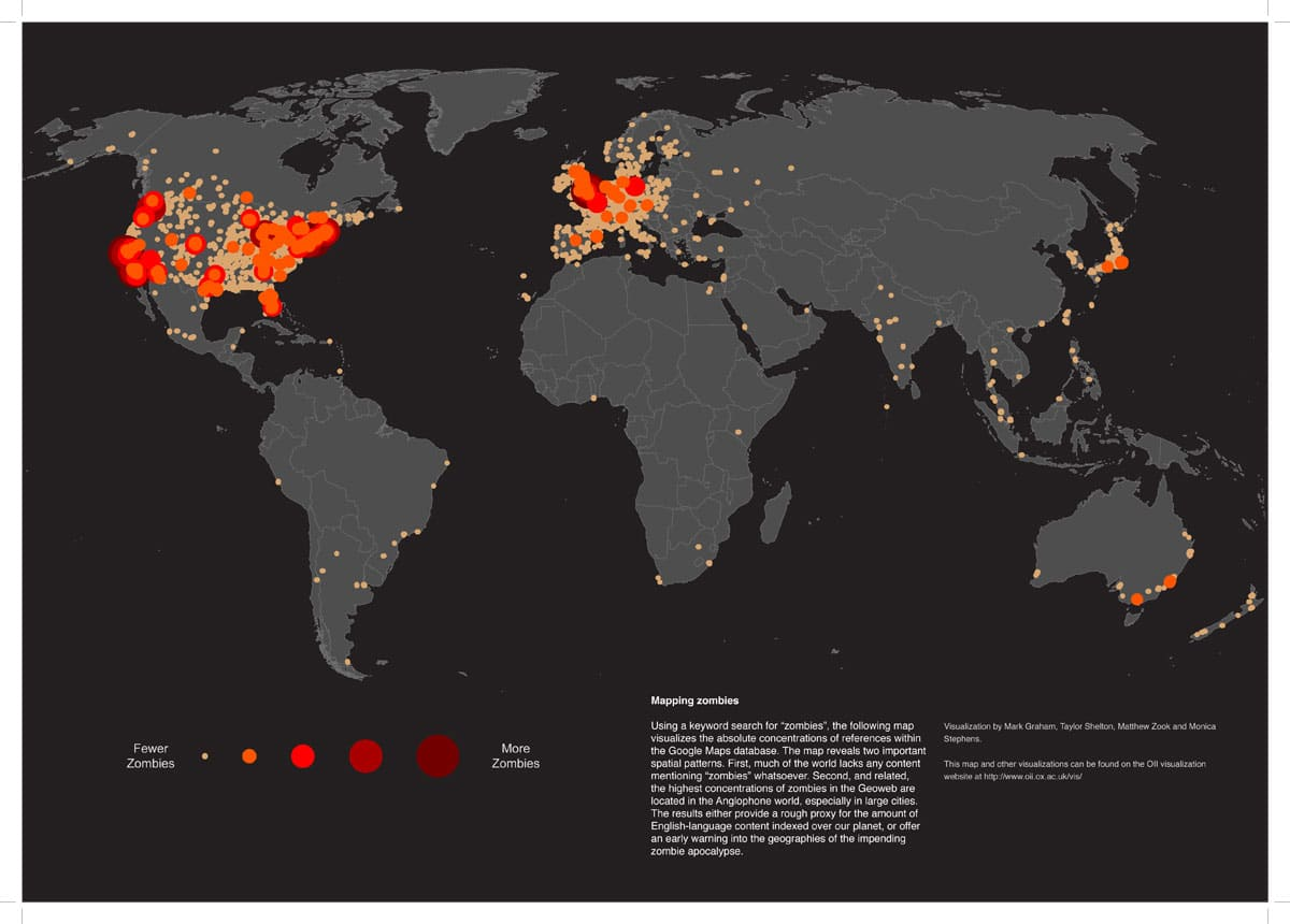 Zombie Concentration Data Map Graphic