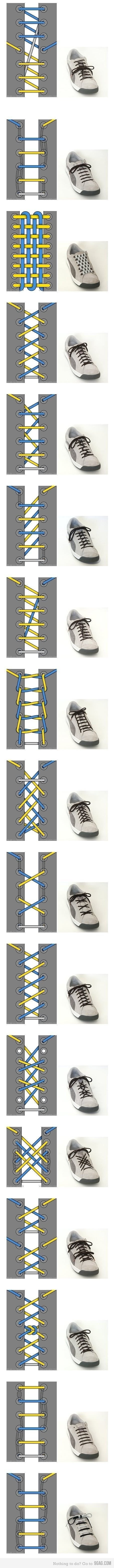 17 Ways To Tie Your Shoes