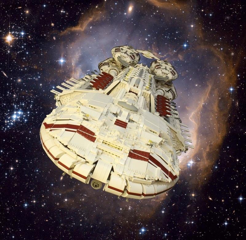 Epic 54 Pound Lego Battlestar Galactica Ship
