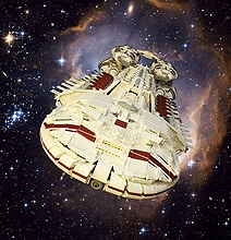 Epic 54 Pound Lego Battlestar Galactica Ship
