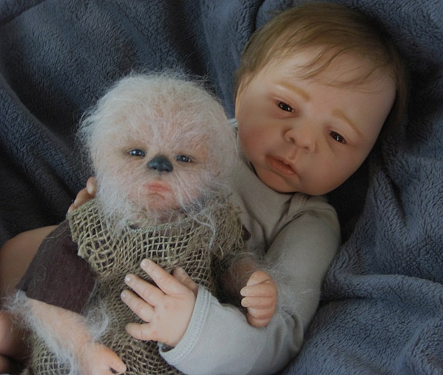 Creepy Baby Chewbacca Figure
