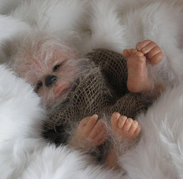 Creepy Baby Chewbacca Figure