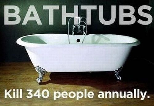 Bathtubs Kill People Every Year