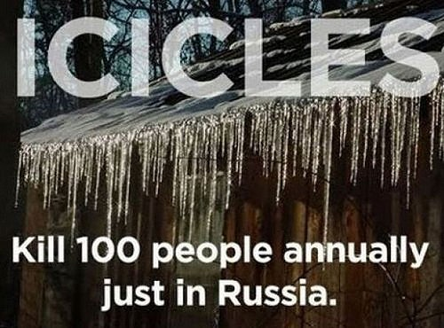 Icicles Kill People In Russia