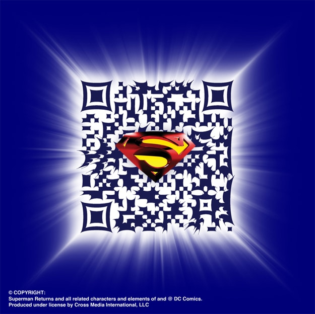 Superman QR Code Scann Barcode