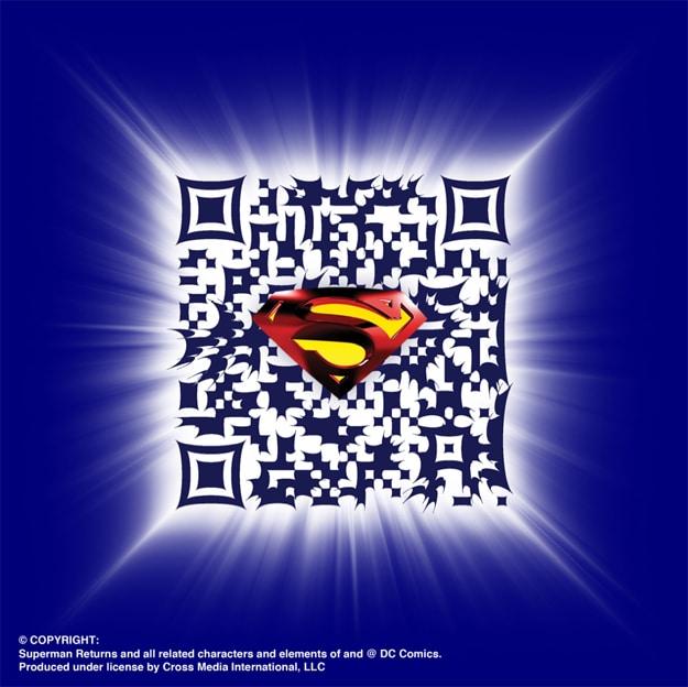 Superman QR Code Scann Barcode
