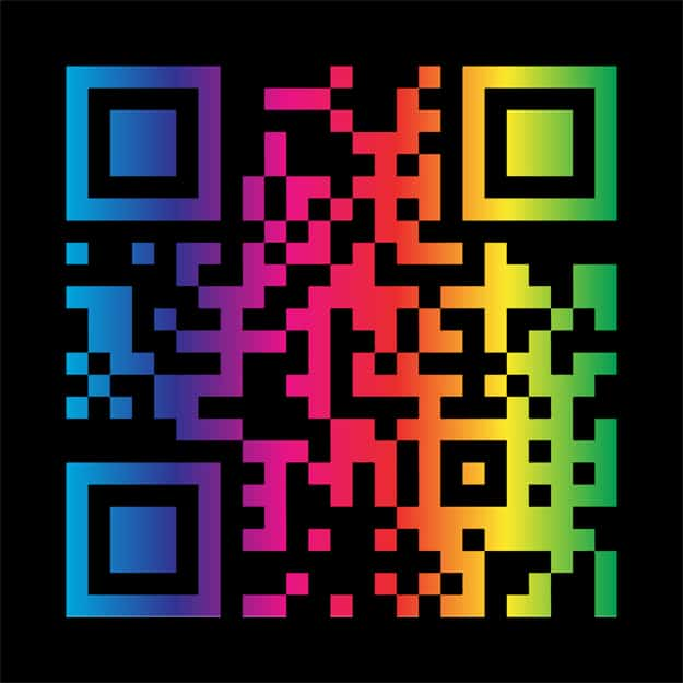 Rainbow Colored QR Code Barcode