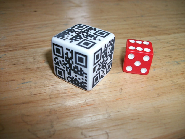 QR Code Barcode Dice Die