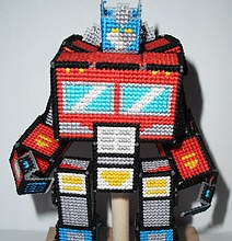 Cross-Stitched Optimus Prime Can Really Transform